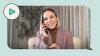 Kristen Bell texting with theSkimm