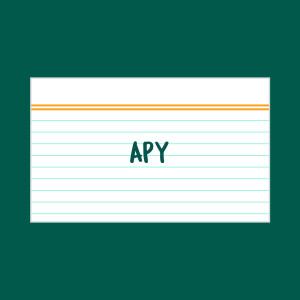APY index card
