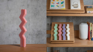 zig zag tapered candles