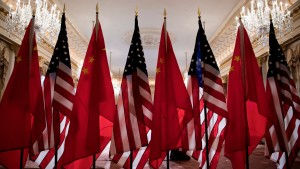 The US and China flags