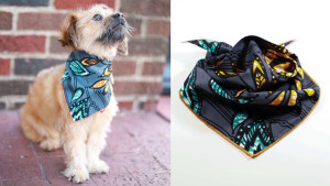 a neck bandana for a dog