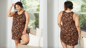 animal print sleep dress with no sleeves