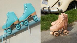 colorful roller skates