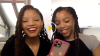Chloe x halle texting with