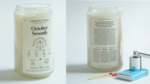 astrology themed candle for birthdays
