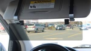 car visor extender to help dim headlights and prevent glare