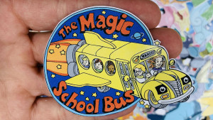 sticker of the magic school bus