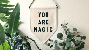 """sweet """"you are magic"""" fabric banner for wall decor"""