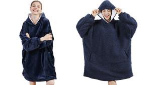 oversized blanket hoodie sweatshirt