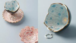 trinket dishes for rings and earrings