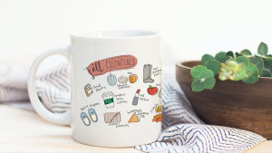 cute decorated mug for the fall season