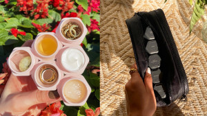 individual travel pods for serums and pills that are magnetic and can stick together