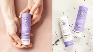 aluminum-free deodorant with biodegradable packaging