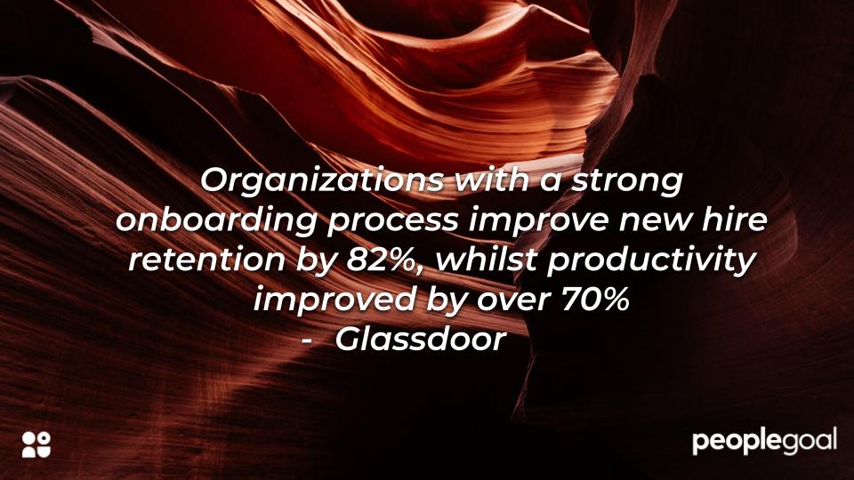 Glassdoor Statistic on strong onboarding process