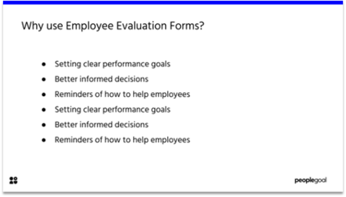Employee Evaluation Form Templates Why use Evaluation Forms