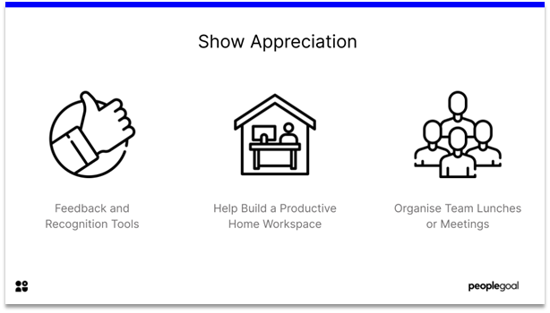 Remote Employee Engagement - show appreciation