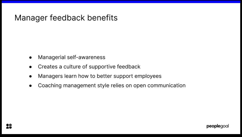 Manager feedback benefits