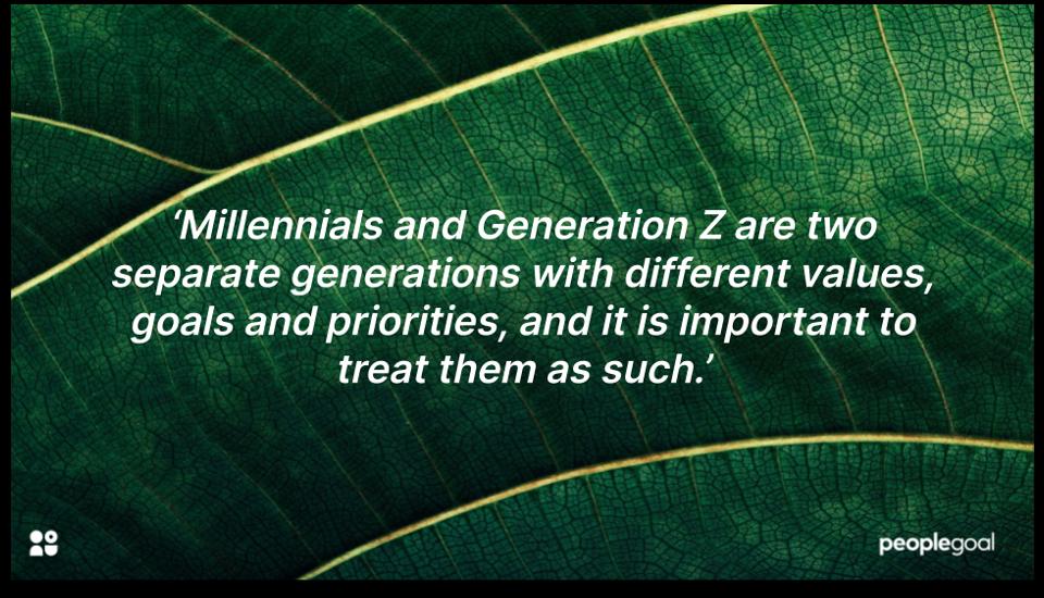 gen z vs millennials quotation