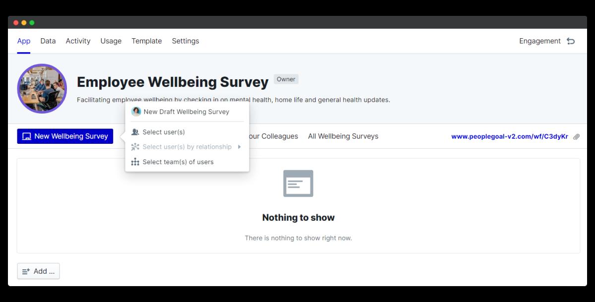 employee wellbeing survey - new survey