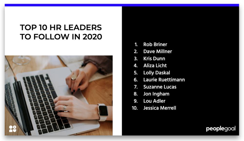 top HR leaders 2020