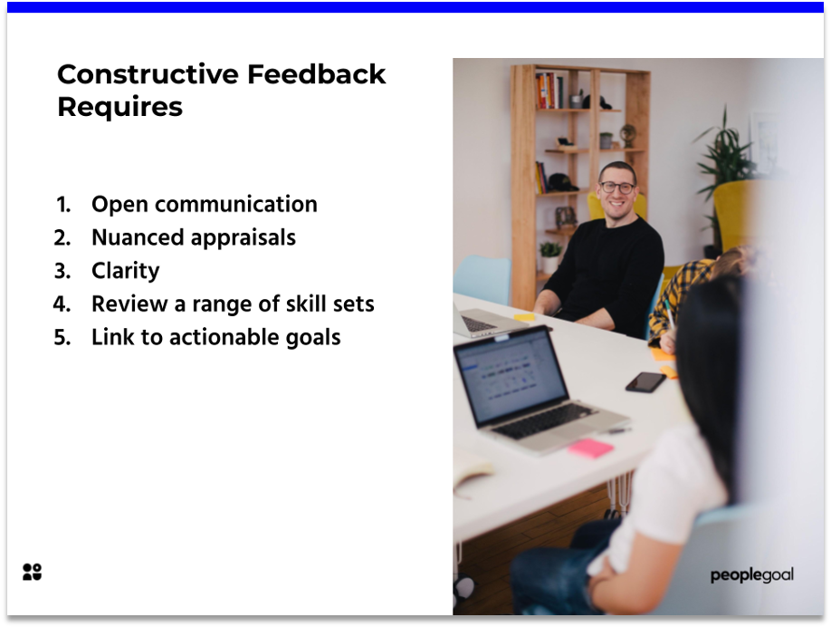 Constructive Feedback requirements