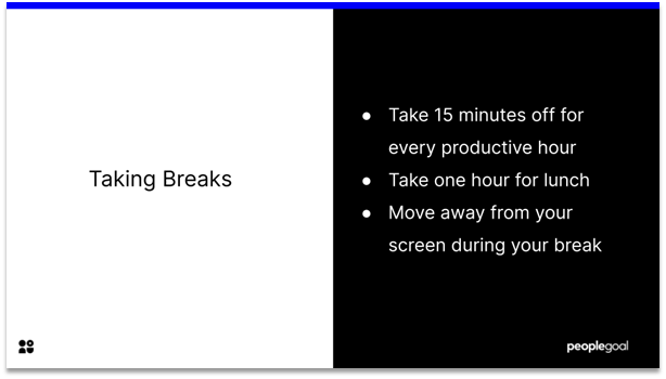 Effective at Work - take breaks