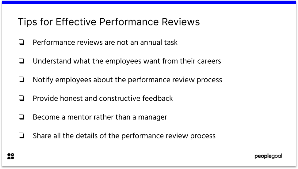 Tips for Effective Employee Performance Reviews