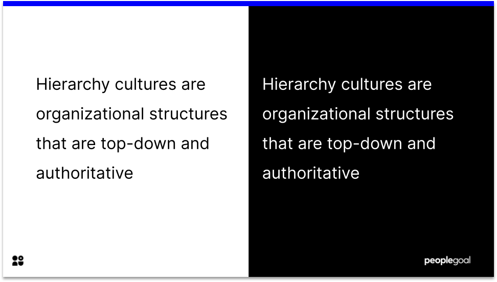 Definition of Hierarchy culture