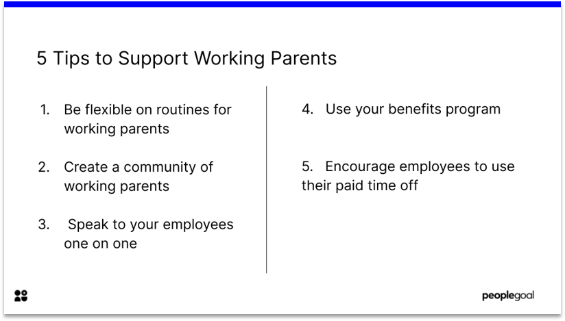 5 Tips to Support Working Parents