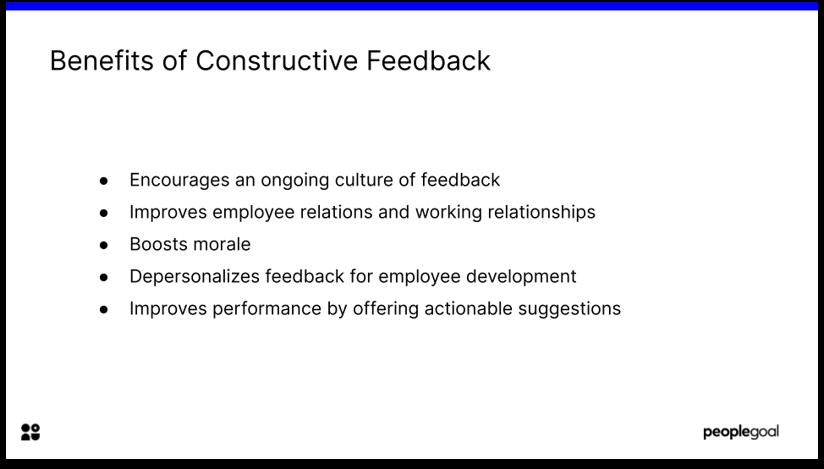 Benefits of Constructive Feedback