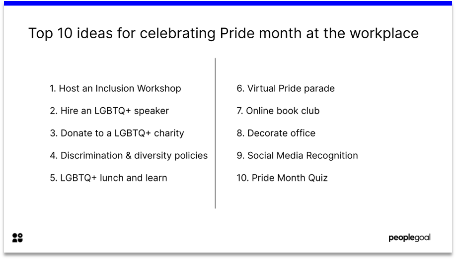 top 10 ideas for celebrating pride month in the workplace