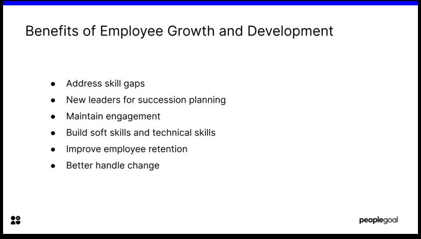 Benefits of Employee Development