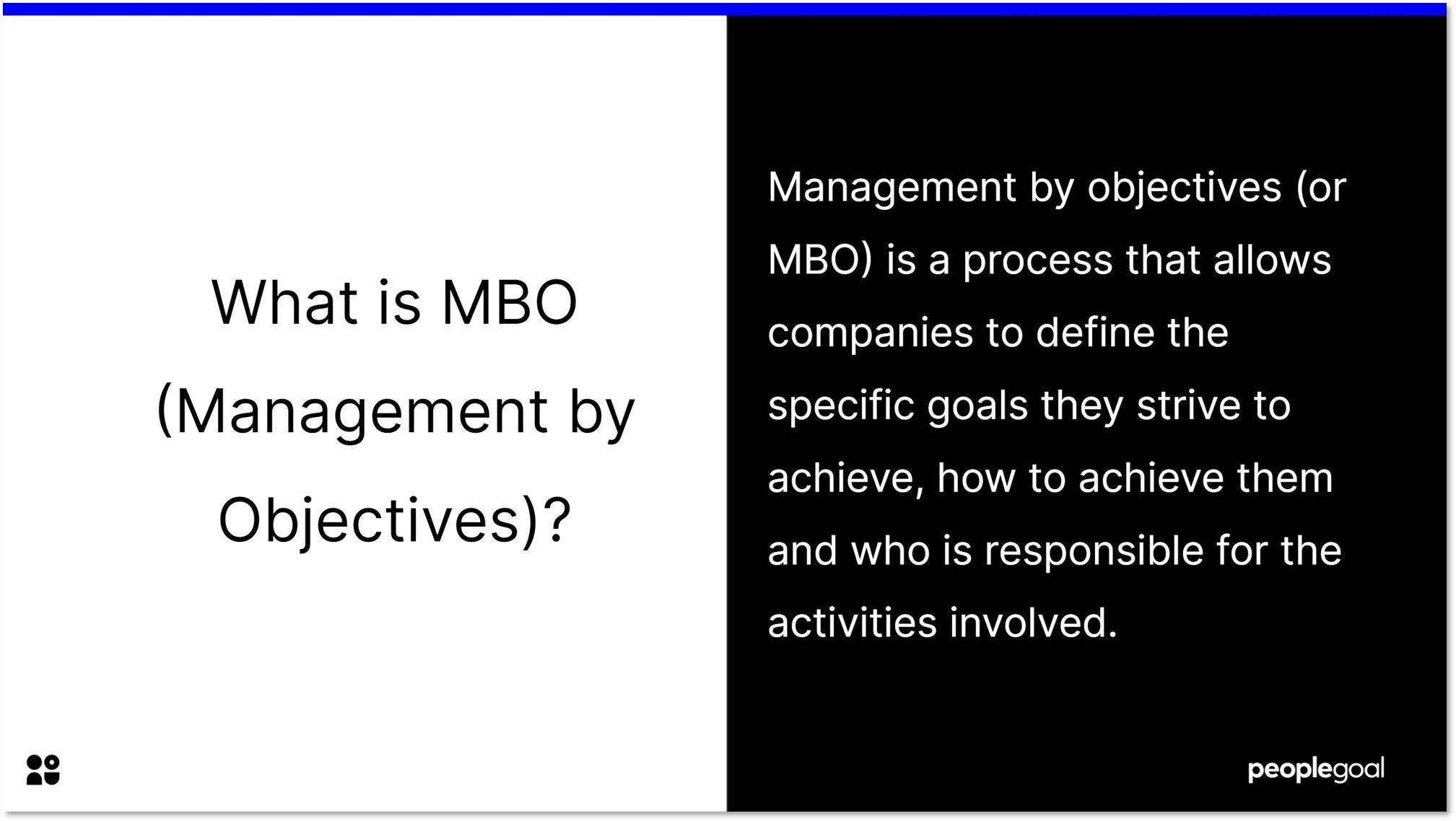 What is management by objectives