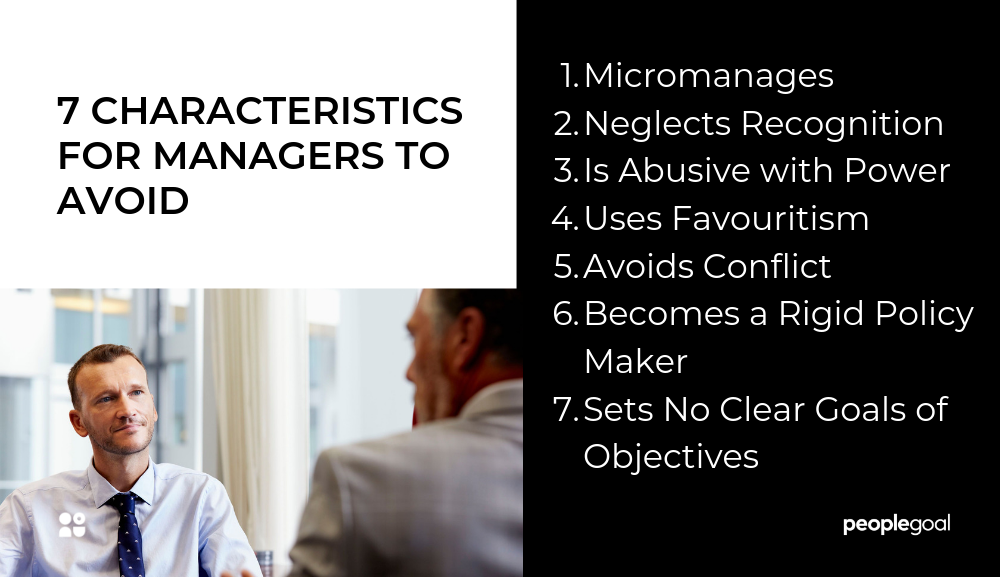 7 manager characteristics to avoid as a manager