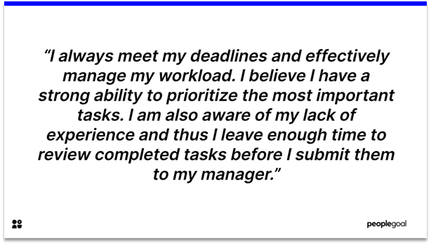 Self-Evaluation - Ability to work under pressure and time management
