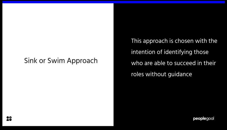 Sink or Swim Approach - Onboarding Checklist