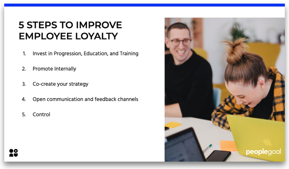 5 steps to improve employee loyalty