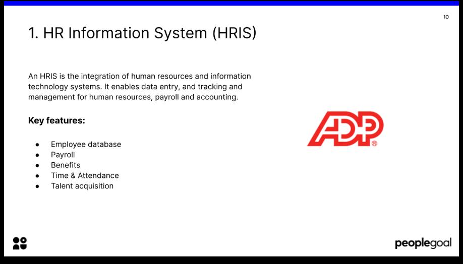 HR tech stack HRIS