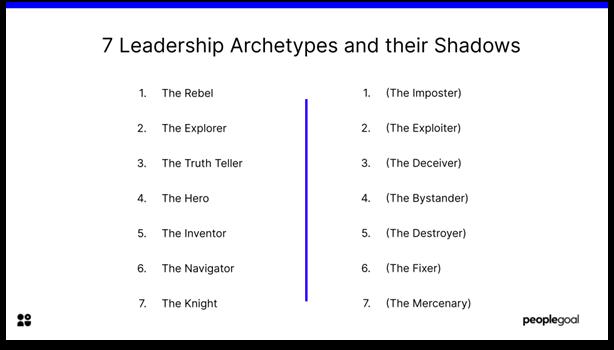 Leadership Styles - 7 leadership archetypes and their shadows