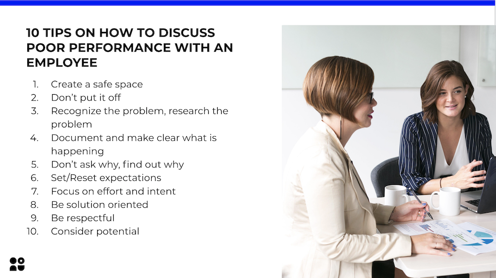 10 tips on how to discuss poor performance with an employee