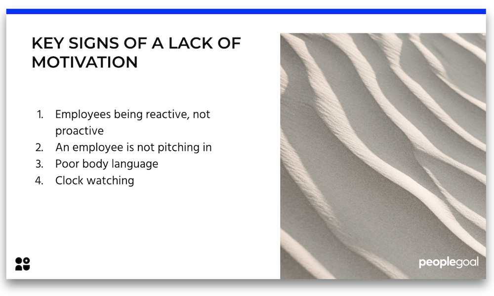 key signs of a lack of motivation