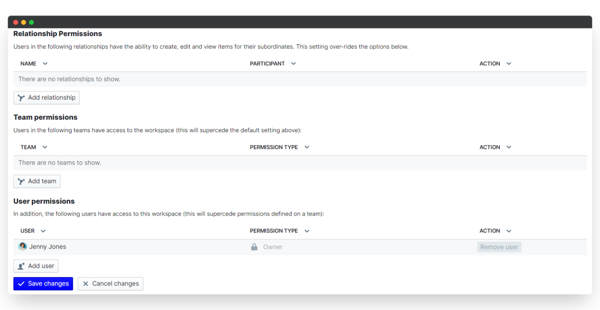 employee onboarding process - configure permissions