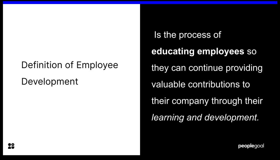 Employee Development - DEFINITION