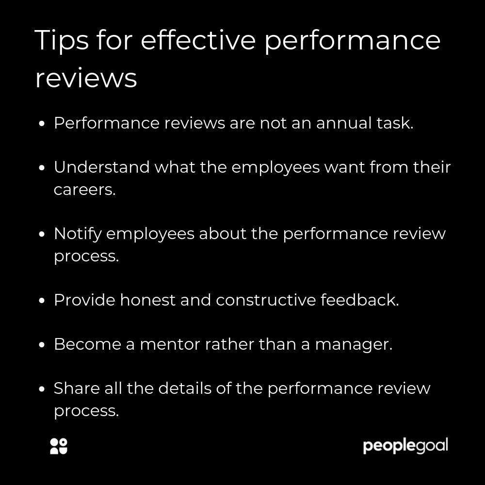 Tips for effective performance reviews