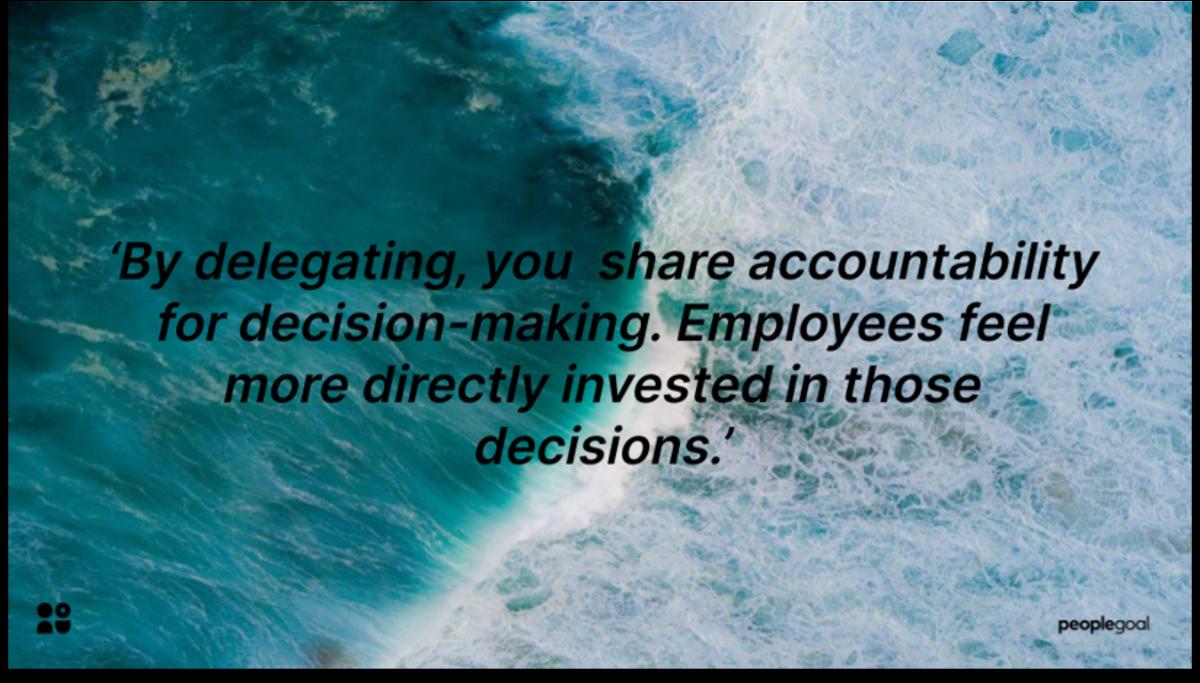 Delegative management styles