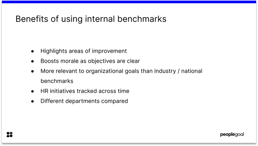 Internal benchmarks for employee survey results