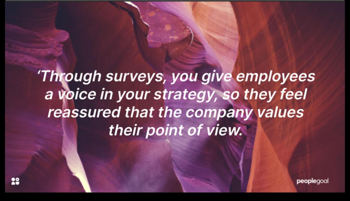 Benefit of surveys HR software
