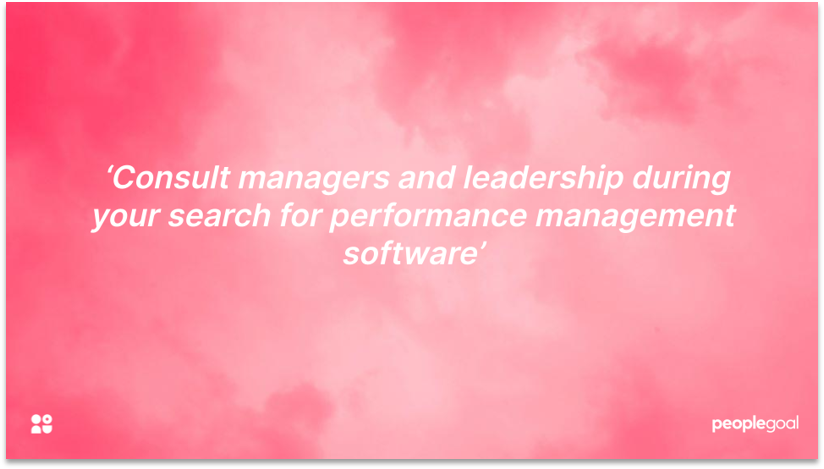 HR Software and Leadership Buy In
