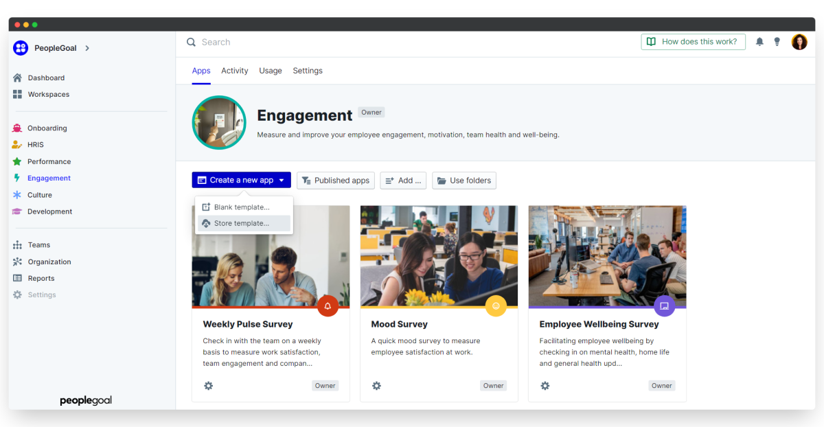 employee engagement survey - download store template