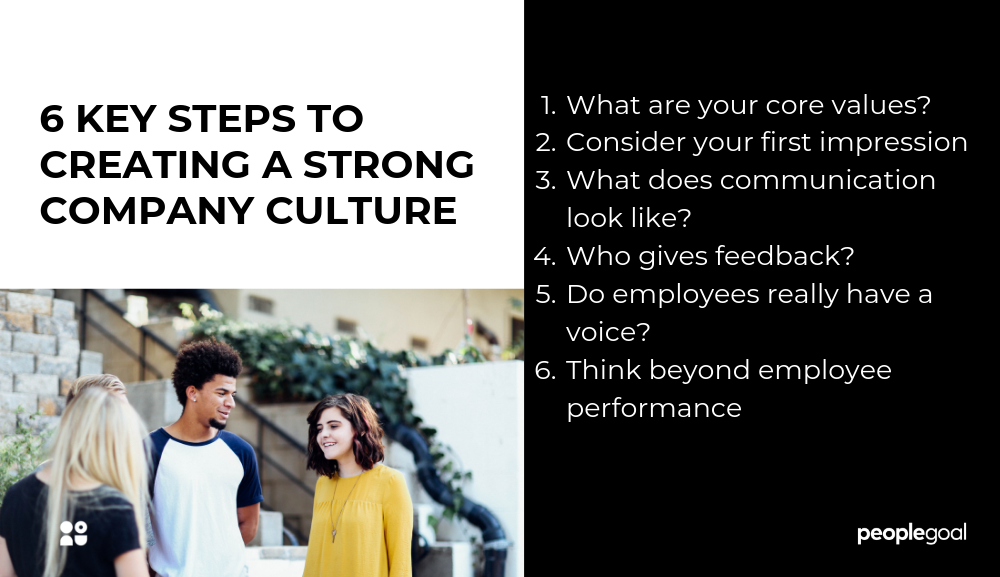 6 KEY STEPS TO CREATING A STRONG COMPANY CULTURE